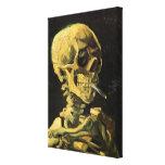 Cráneo de Van Gogh con el cigarrillo ardiente, art Impresiones De Lienzo