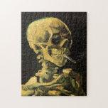 Cráneo de Van Gogh con el cigarrillo ardiente, art Puzzles