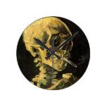 Cráneo de Van Gogh con el cigarrillo ardiente, art Relojes