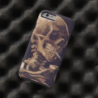 Cráneo de Van Gogh con el cigarrillo ardiente Funda De iPhone 6 Tough