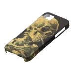 Cráneo de Van Gogh con el cigarrillo ardiente, iPhone 5 Cobertura