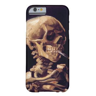 Cráneo de Van Gogh con el cigarrillo ardiente Funda Barely There iPhone 6