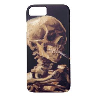 Cráneo de Van Gogh con el cigarrillo ardiente Funda iPhone 7