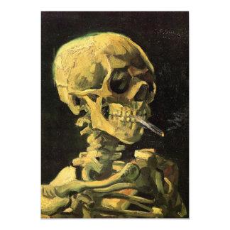 """Cráneo de Van Gogh con el cigarrillo ardiente, Invitación 5"""" X 7"""""""