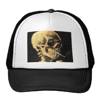 Cráneo de Van Gogh con el gorra ardiente del cigar