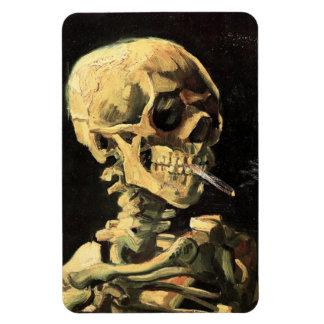 Cráneo de Van Gogh con el imán ardiente del cigarr