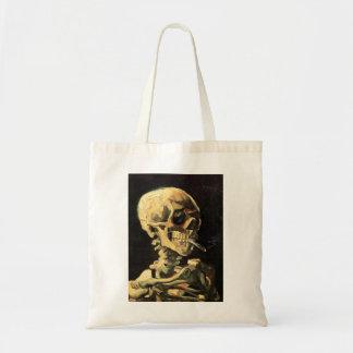Cráneo de Van Gogh con la bolsa de asas ardiente d