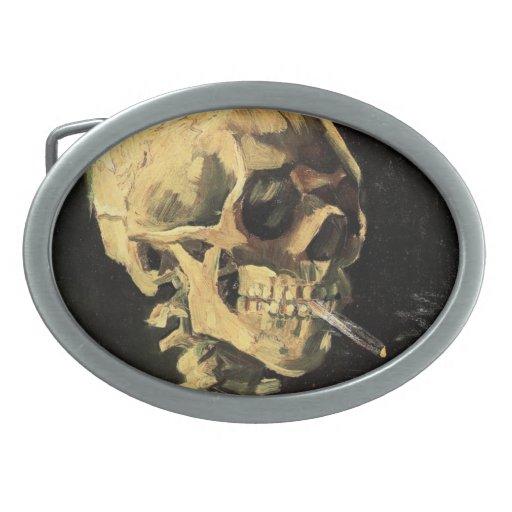 Cráneo de Van Gogh con la hebilla del cinturón ard Hebillas Cinturon Ovales