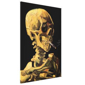 Cráneo de Van Gogh con la lona grande del Lienzo Envuelto Para Galerías