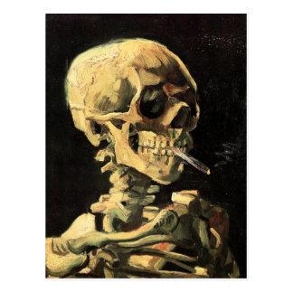 Cráneo de Van Gogh con la postal ardiente del ciga