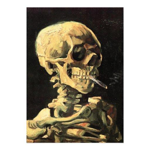 Cráneo de Van Gogh con las invitaciones ardientes  Anuncios