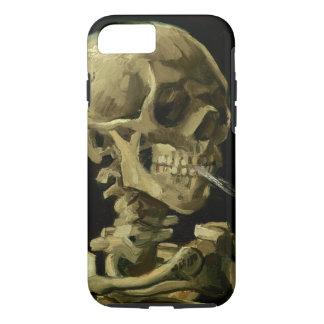 Cráneo de Van Gogh el | con el cigarrillo ardiente Funda iPhone 7