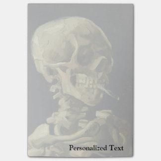 Cráneo de Van Gogh el | con el cigarrillo ardiente Post-it Nota