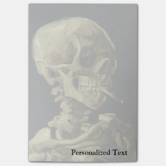 Cráneo de Van Gogh el | con el cigarrillo ardiente Post-it® Nota