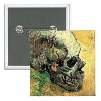 Cráneo de Van Gogh Pin Cuadrado