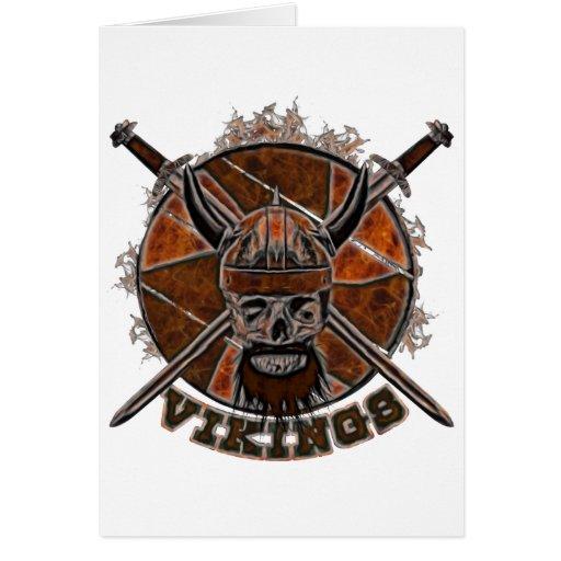 Cráneo de Viking del bosquejo Tarjeta De Felicitación