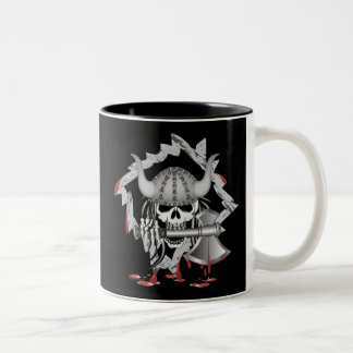 Cráneo de Viking Tazas De Café