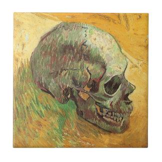 Cráneo de Vincent van Gogh, impresionismo del Azulejo Cuadrado Pequeño
