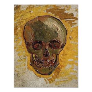 """Cráneo de Vincent van Gogh Invitación 4.25"""" X 5.5"""""""