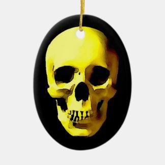 Cráneo Adorno Ovalado De Cerámica