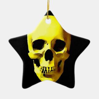 Cráneo Adorno De Cerámica En Forma De Estrella