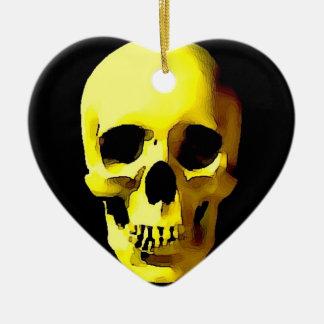Cráneo Adorno De Cerámica En Forma De Corazón