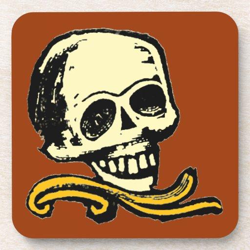Cráneo decorativo del vintage adaptable posavaso