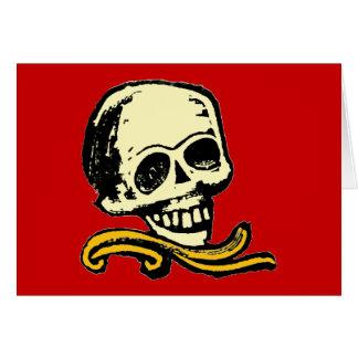 Cráneo decorativo del vintage adaptable tarjeta de felicitación