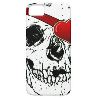 Cráneo del amor iPhone 5 Case-Mate cárcasas