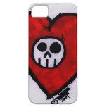 Cráneo del amor iPhone 5 Case-Mate cárcasa