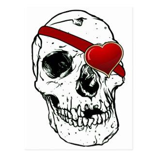 Cráneo del amor tarjetas postales