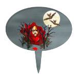 Cráneo del amor y de los palos palillos de tarta