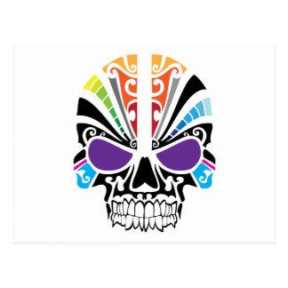 Cráneo del arco iris del vudú postal