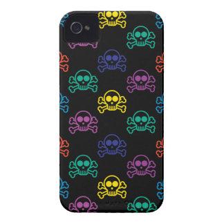 Cráneo del arco iris funda para iPhone 4 de Case-Mate