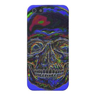 Cráneo del arco iris iPhone 5 protectores