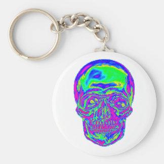 Cráneo del arco iris llavero personalizado