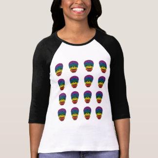 cráneo del arco iris camisetas