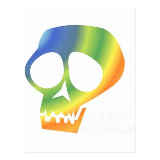 ¡Cráneo del arco iris Tarjeta Postal