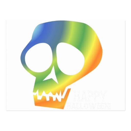 ¡Cráneo del arco iris! Tarjetas Postales