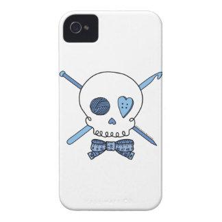 Cráneo del arte (azul) iPhone 4 protector