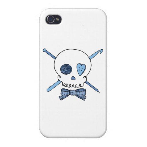 Cráneo del arte (azul) iPhone 4/4S fundas