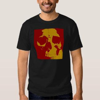 Cráneo del arte pop camisas