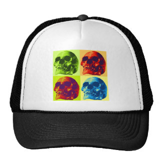 Cráneo del arte pop gorras de camionero