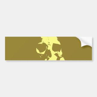 Cráneo del arte pop pegatina para auto