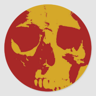Cráneo del arte pop pegatina redonda