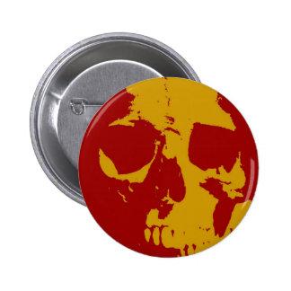 Cráneo del arte pop pin redondo 5 cm