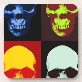 Cráneo del arte pop posavaso