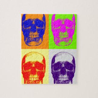 Cráneo del arte pop puzzles