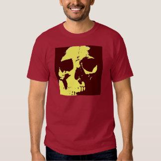 Cráneo del arte pop remera
