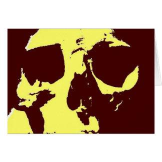 Cráneo del arte pop tarjeta de felicitación